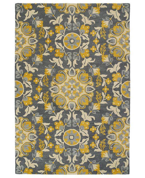 Kaleen Global Inspirations GLB102-75 Gray 8' x 10' Area Rug