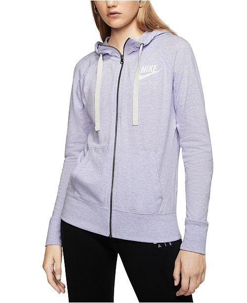 Nike Women's Gym Vintage Full-Zip Hoodie & Reviews - Macy's