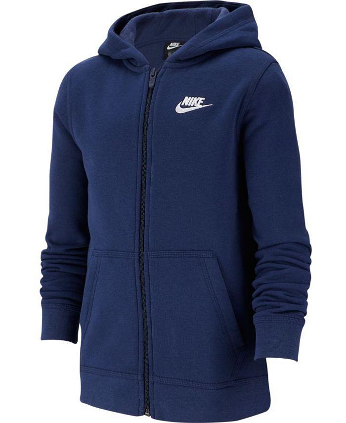 Nike - Big Boys Fleece Logo Zip-Up Hoodie