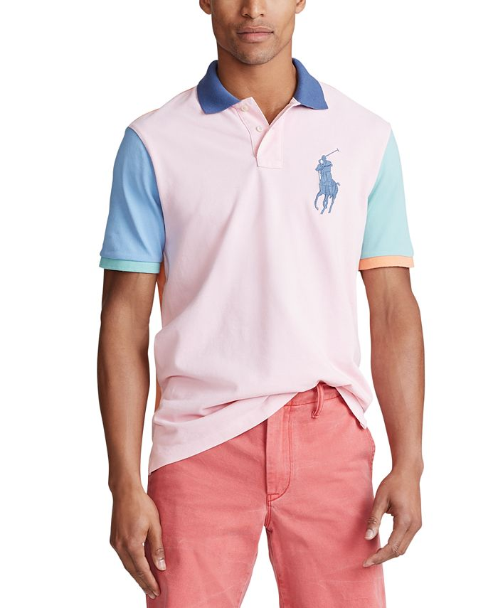 Polo Ralph Lauren Men's Multi-Color Big Pony Mesh Polo Shirt ...