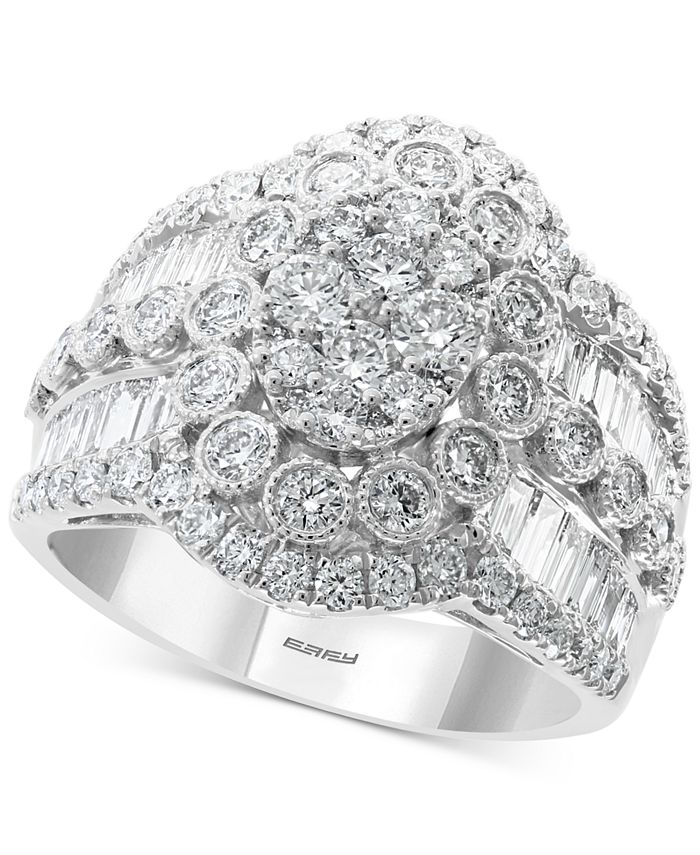 EFFY Collection - Diamond Cluster Statement Ring (2-1/6 ct. t.w.) in 14k White Gold