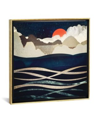 """Midnight Beach by Spacefrog Designs Gallery-Wrapped Canvas Print - 18"""" x 18"""" x 0.75"""""""