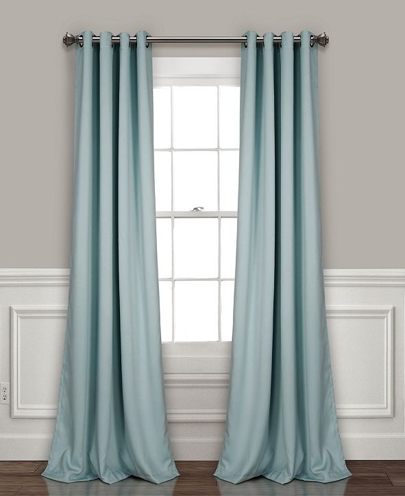 "Lush Decor Insulated 52"" x 84"" Blackout Curtain Set"