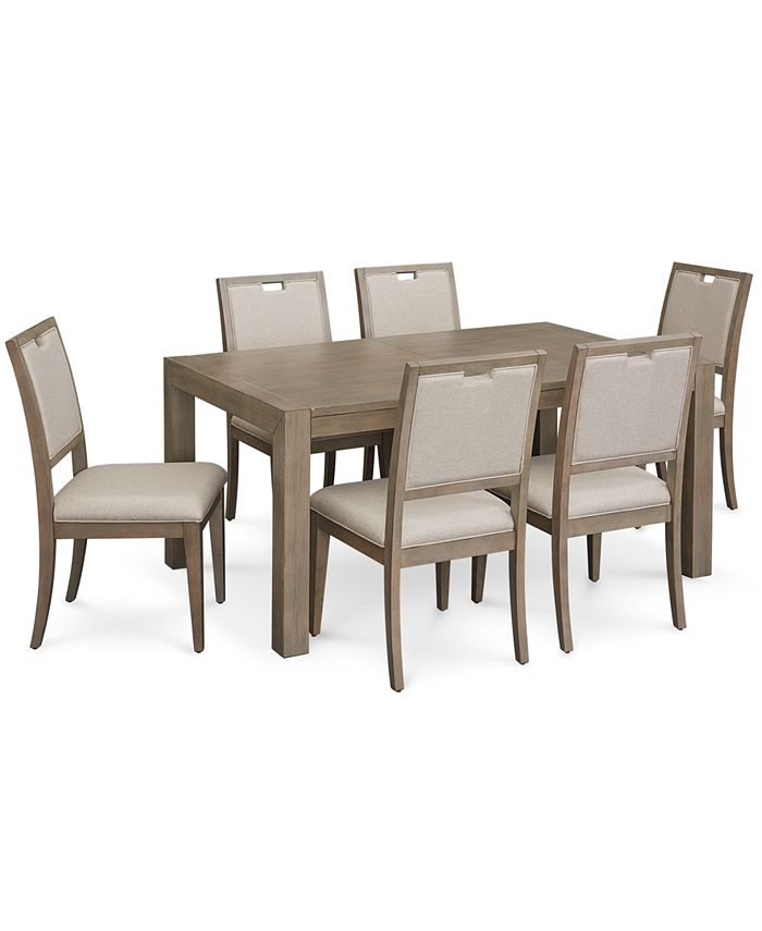 Furniture - Melbourne Dining , 7-Pc. Set (Expandable Table & 6 Side Chairs)