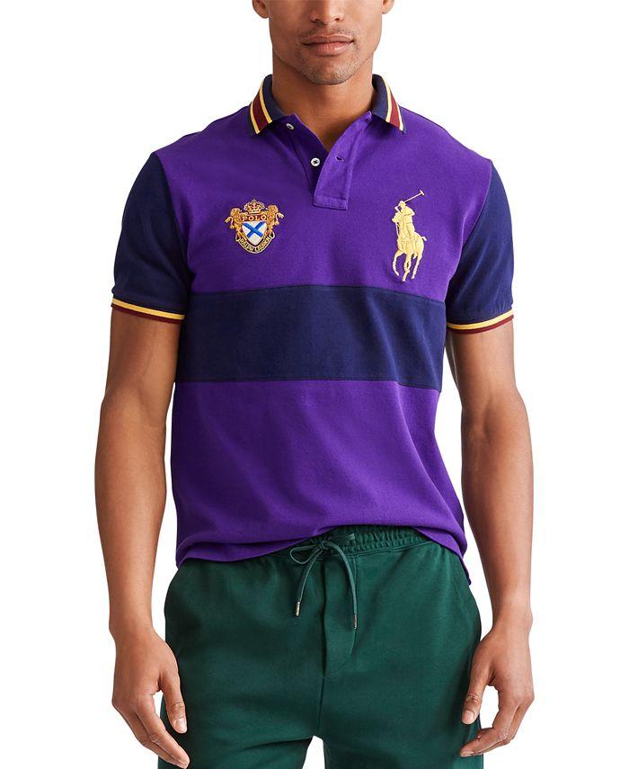 Polo Ralph Lauren Men's Custom Slim Fit Big Pony Mesh Polo Shirt ...