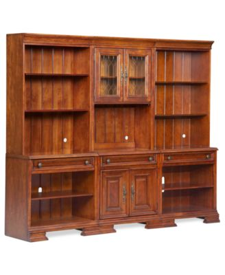 Goodwin Home Office Furniture 6 Piece Wall Set 2 Open
