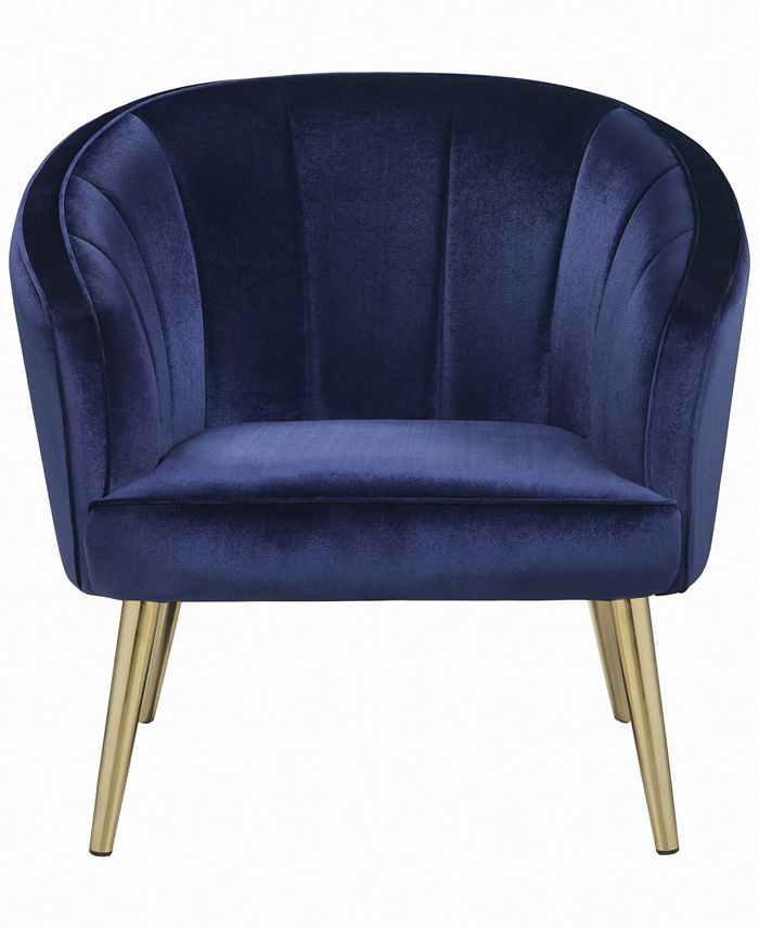 Macy's - Upholstered Accent Chair Blue