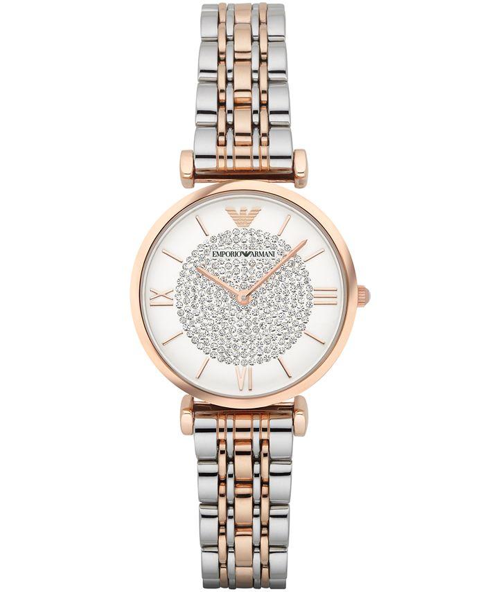 Emporio Armani - Women's Gianni T-Bar Two-Tone Stainless Steel Bracelet Watch 32mm AR1926