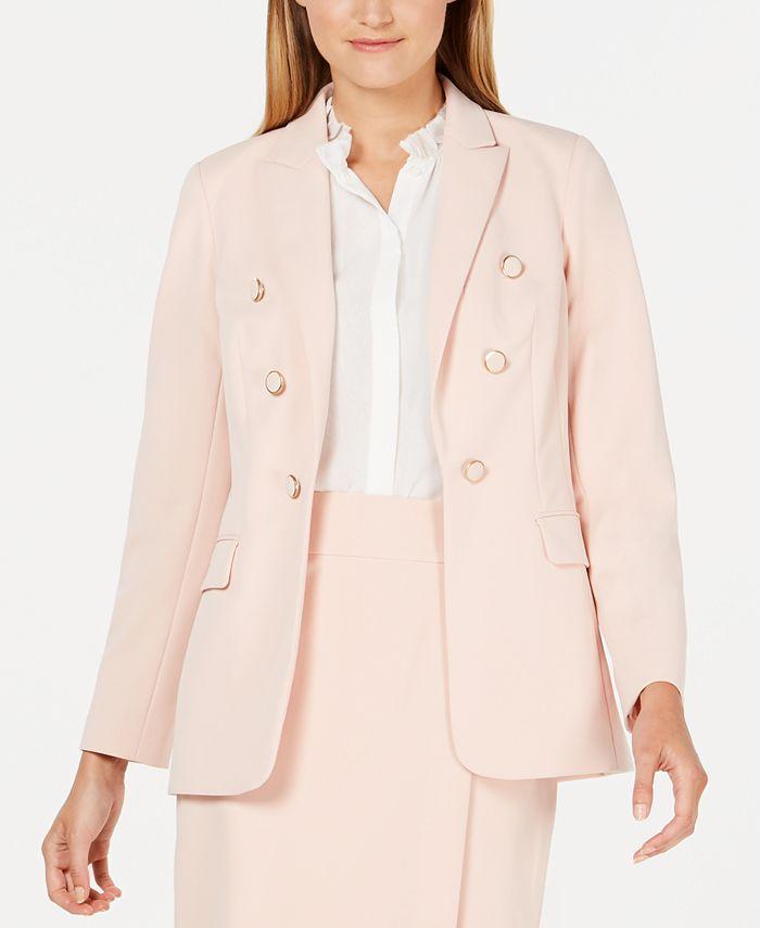 Calvin Klein - Button-Trimmed Open-Front Blazer