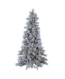 Sterling 9ft. Pre-Lit Lightly Flocked Snowbell Pine with 900 Twinkling Lights