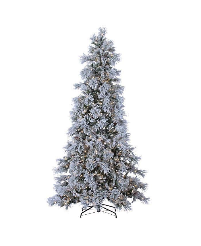 Sterling - 9ft. Pre-Lit Lightly Flocked Snowbell Pine with 900 Twinkling Lights
