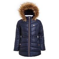 Tommy Hilfiger Big Girls Puffer Jacket With Faux Fur Hood