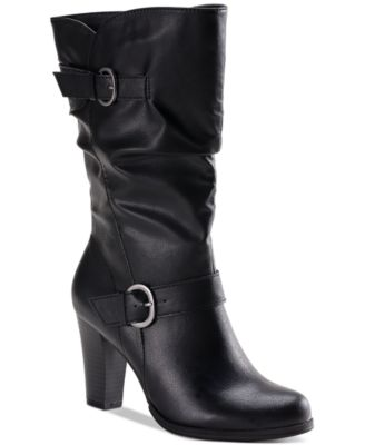 Style \u0026 Co Sachi Block-Heel Mid-Shaft