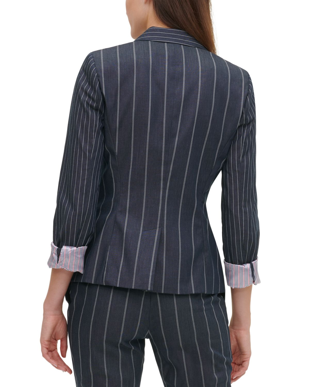 Tommy Hilfiger Striped One-Button Blazer & Reviews - Jackets & Blazers - Women - Macy's