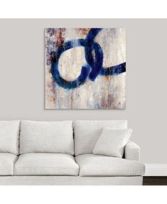 Lapis Rings I' Framed Canvas Wall Art, 36