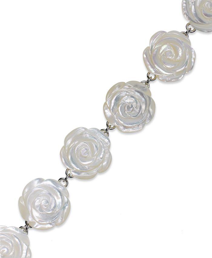 Macy's Sterling Silver Bracelet, Mother of Pearl Flower Bracelet & Reviews - Bracelets - Jewelry & Watches - Macy's