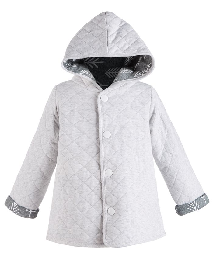 First Impressions - Baby Girls Cotton Quilted Reversible Jacket