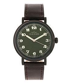 Elevon Men's Felix Genuine Leather Strap Watch 42mm