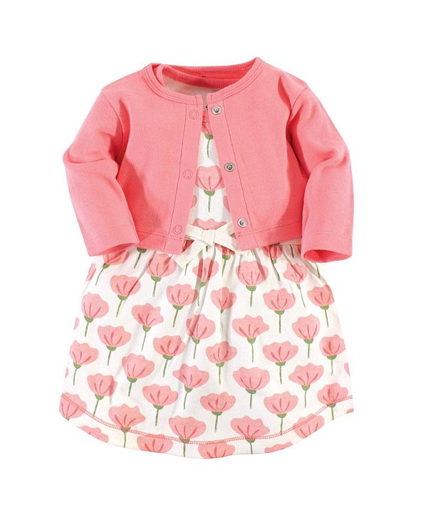 Touched by Nature Organic Cotton Dress and Cardigan Set, Tulip, 18-24 Months