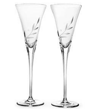 "Lenox ""Opal Innocence"" Toasting Flutes, Set of 2"