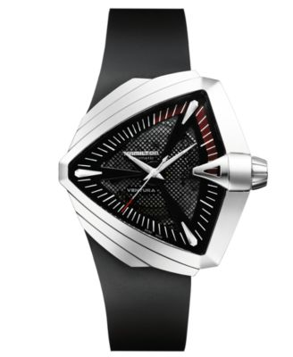 Men's Swiss Automatic Ventura XXL Black Rubber Strap Watch 27mm H24655331