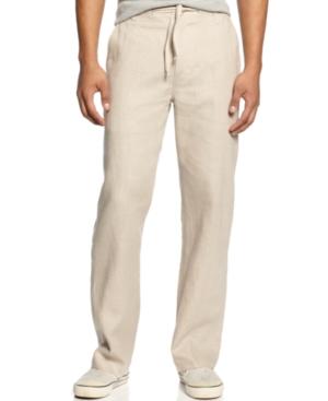 Sean John Pants Drawstring Linen Pants
