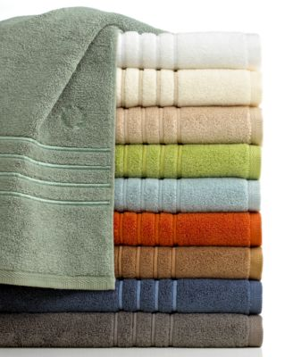 "Lenox Bath Towels, Platinum Solid 30"" x 58"" Bath Towel"
