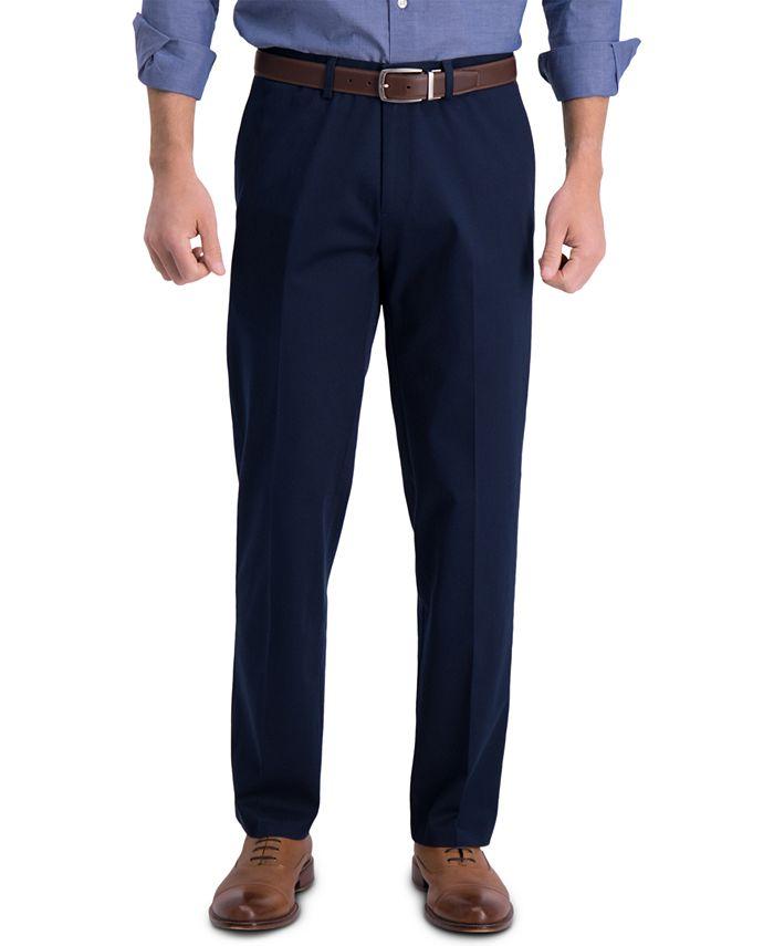 Haggar - Men's Premium Classic-Fit Performance Stretch Non-Iron Flat-Front Dress Pants