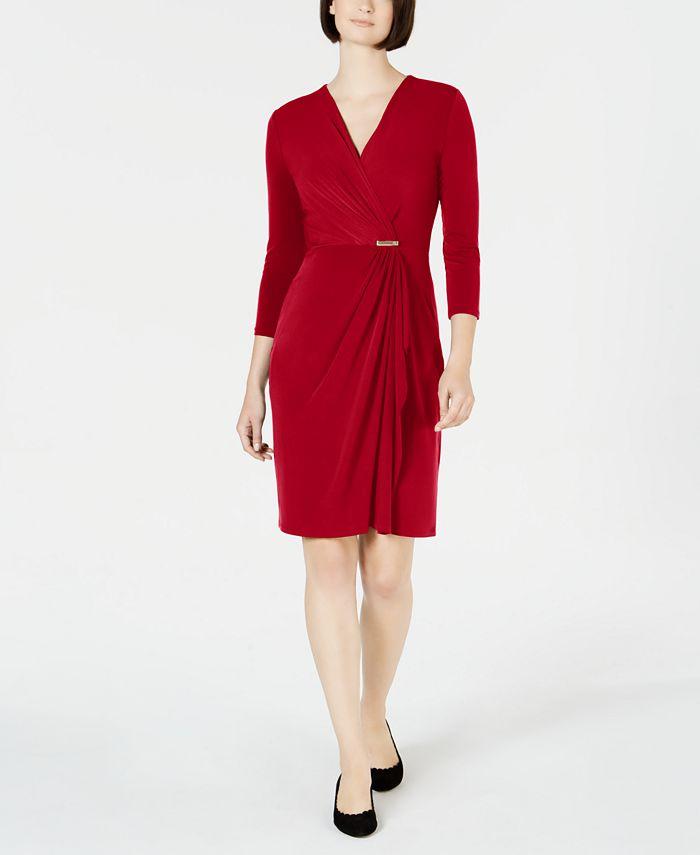Charter Club - Hardware Faux-Wrap Dress