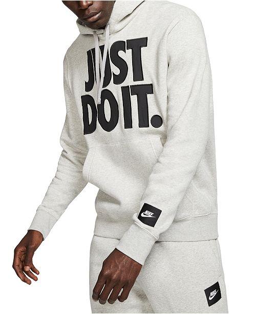 Nike Men's Sportswear Just Do It Fleece Hoodie & Reviews ...