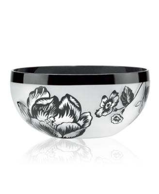 Lenox Gifts, Midnight Blossom Crystal Bowl 8""