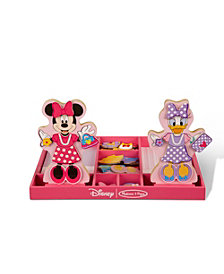 Melissa and Doug Minnie & Daisy Wooden Magnetic Dress-Up