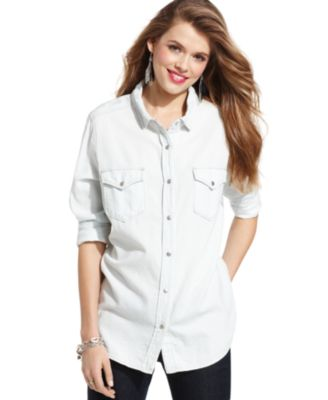 polo button down shirts women
