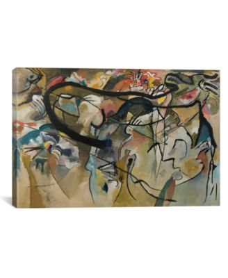 """Composition V by Wassily Kandinsky Wrapped Canvas Print - 26"""" x 40"""""""