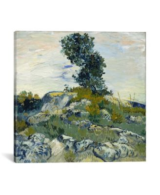 """The Rocks by Vincent Van Gogh Wrapped Canvas Print - 18"""" x 18"""""""