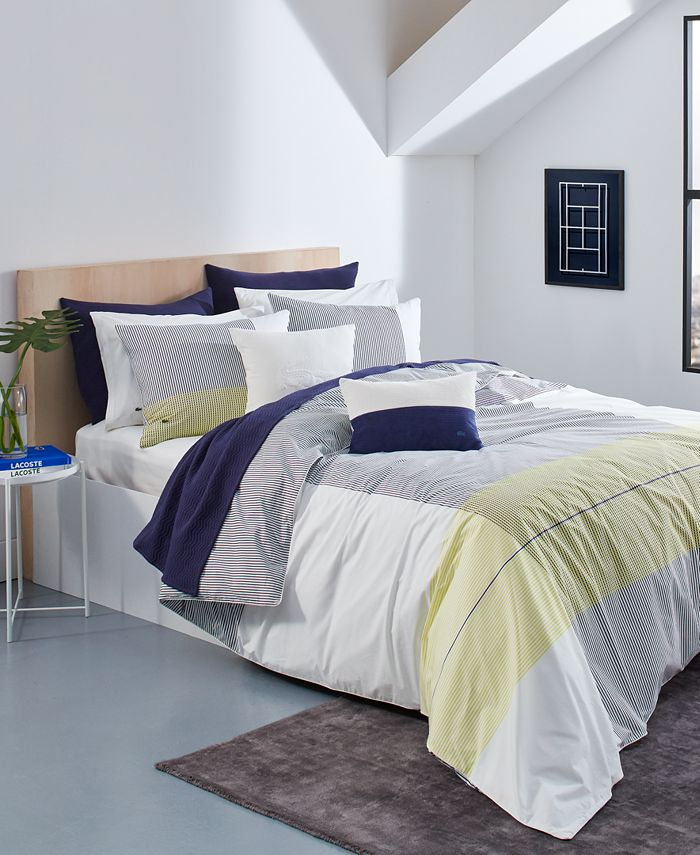Lacoste Home - Backspin Ivory Twin/Twin XL Duvet Set