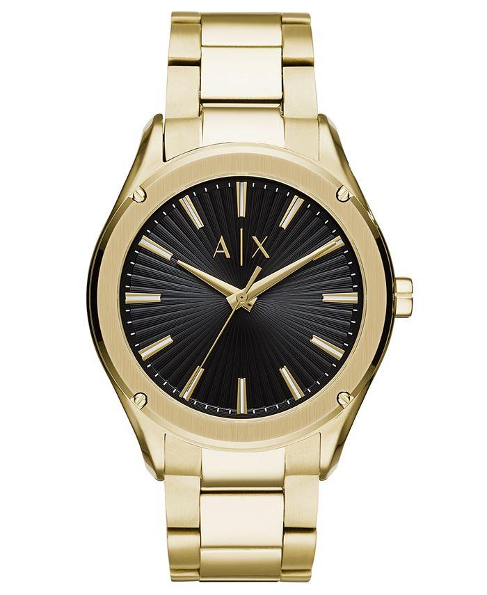 A|X Armani Exchange - Men's Fitz Gold-Tone Stainless Steel Bracelet Watch 44mm