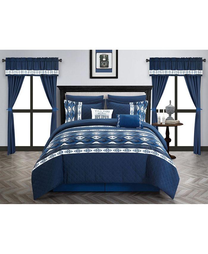 Chic Home - Safforn 20 Piece Queen Comforter Set