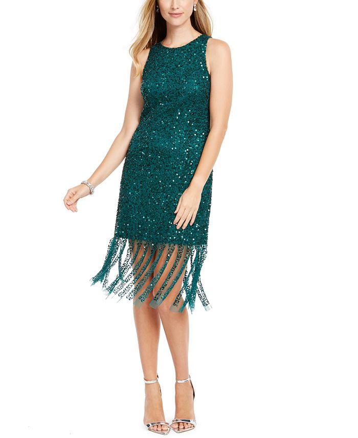 Adrianna Papell - Beaded Short Dress