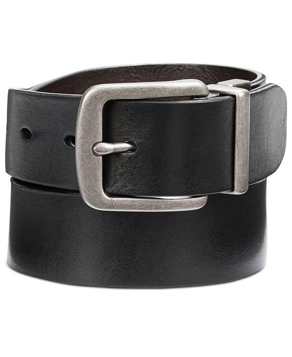 Perry Ellis Portfolio Perry Ellis Men's Cut-Edge Reversible Leather Belt