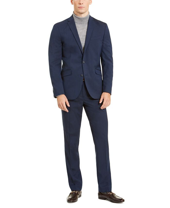 Kenneth Cole - Men's Slim-Fit Stretch Navy Suit