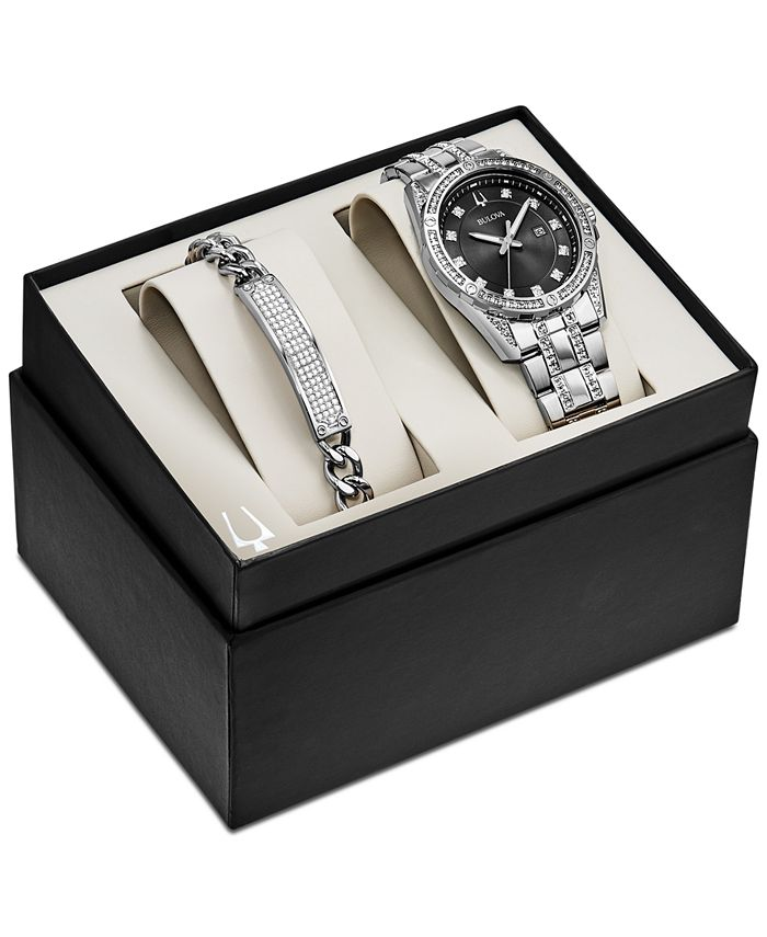 Bulova - Men's Stainless Steel Bracelet Watch 42mm