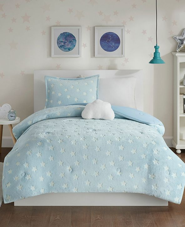 Mi Zone Quinny Full/Queen 4-Pc. Glow In The Dark Plush Comforter Set