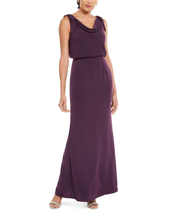 Adrianna Papell - Blouson Cowlneck Gown