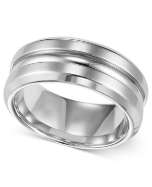 Triton Men's Stainless Steel Ring, 8mm Wedding Band