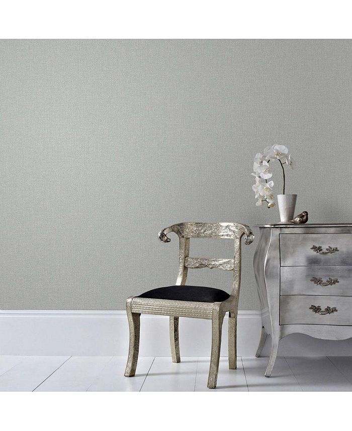 Graham & Brown - Chenille Grey and Silver Wallpaper