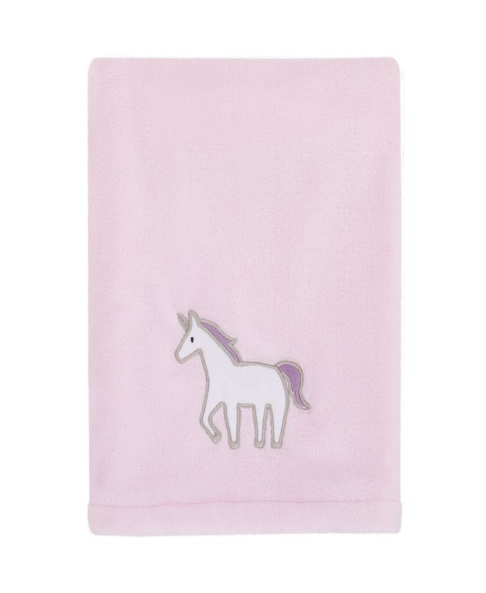 Carter's - Unicorn Snuggles Super Soft Plush Baby Blanket with Unicorn Applique