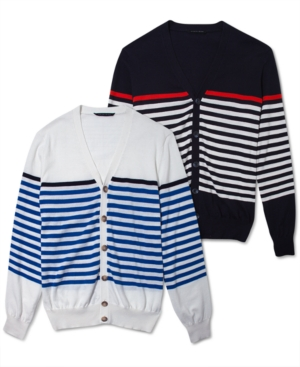 Sean John Sweater Striped Cardigan