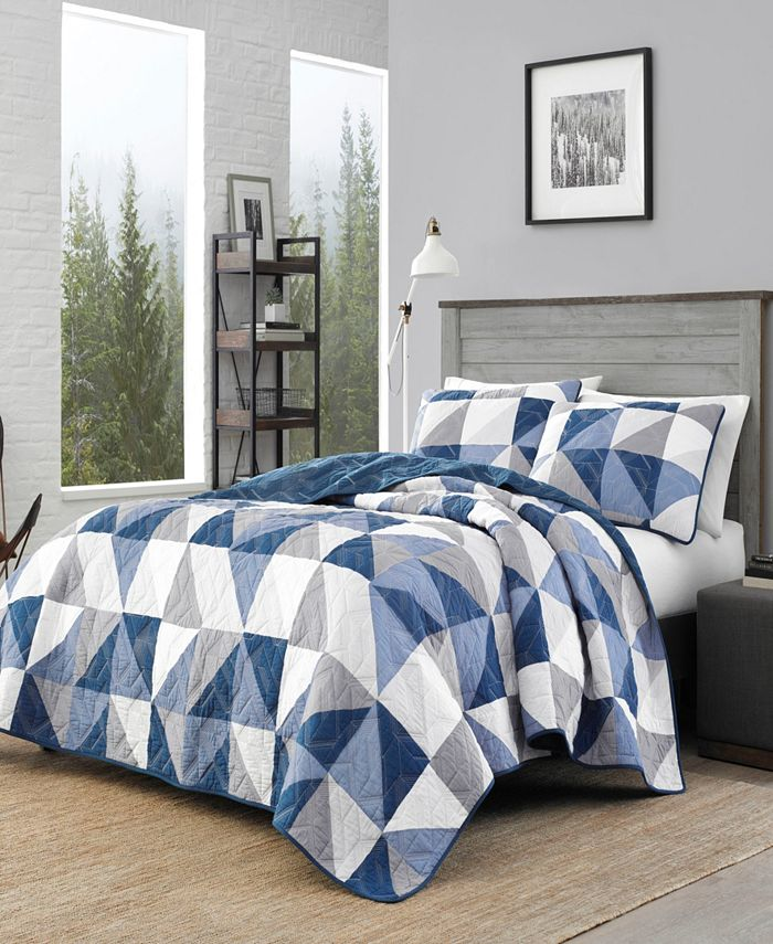 Eddie Bauer - North Cove Navy Quilt Set