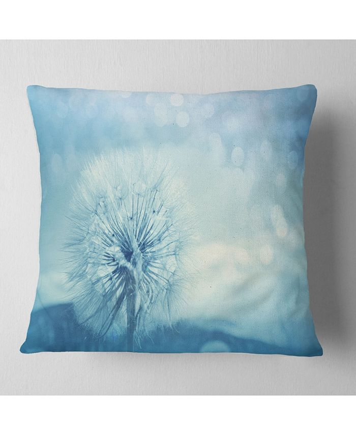 Design Art Designart Close Up White Dandelion With Filter Flower Throw Pillow 16 X 16 Reviews Decorative Throw Pillows Bed Bath Macy S
